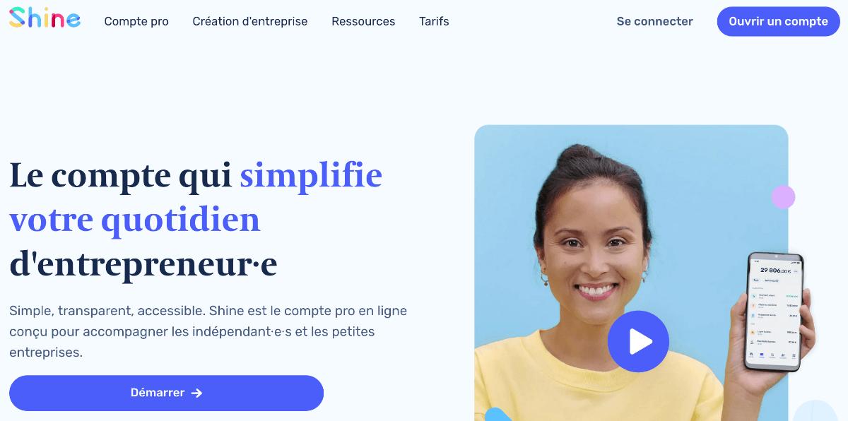 Shine, une banque pour le e-commerce